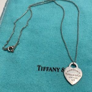 Authentic Tiffany&co heart pendant necklace